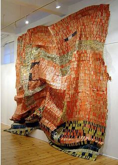More  recycled metal sculpture by El Anatsui. When is someone going to bring this artist to Australia?l