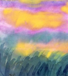 Emil Nolde (German, 1867-1956), Wolkenhimmel, c.1935. Watercolour on Japan paper