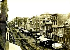 Baltimore Street in 1870. Before it was The Block.