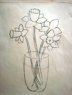 Drawing daffodils for daffodil day