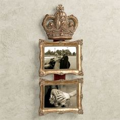Coronet Royal Crown Double Photo Frame Wall Accent