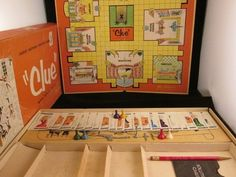 VINTAGE CLUE BOARD GAME 1960 NOT COMPLETE Parker brothers ~ Free Domestic Ship!  #PARKERBROTHER