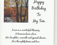 Handmade Greeting Card Birthday Son by JoniqueCardsAndMore