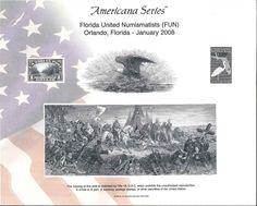 B288 BEP Souvenir Card FUN 2008 DeSoto Eagle Everglades Parcel Intaglio Print