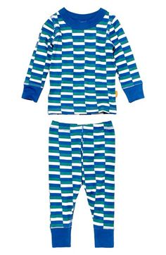 MASALABABY 'Leroy' Organic Cotton Long Sleeve Pajamas (Baby Boys) available at #Nordstrom