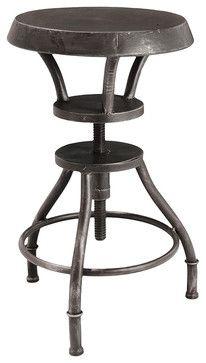 Austin Industrial Metal Bar Stool - bar stools and counter stools - Great Deal Furniture
