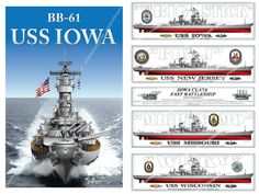 Custom Military Art is your one stop shop for personalized military art! With over 200 illustrations of the United State's military ships, tanks, planes and helicopters, all available to personalize, you are bound to find a gift that will be treasured. Military Art, Military History, Uss Iowa, Us Battleships, Military Drawings, Capital Ship, Fire Powers, Navy Ships, Sea And Ocean
