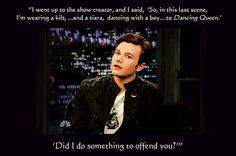 Haha, oh Chris... I'm pinning a lot of Glee stuff lately, maybe it should get its own board. EDIT: Oh look, it did.