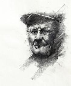 Charcoal sketch by Ivan Alifan, gallery artist http://www.fourcornersgalleryonline.com/