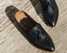 15 Flats We're Coveting for Fall | Mod & Soul | Richmond, VA | Montana Studded Tassel Loafer Mule