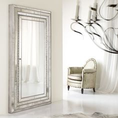 Hooker Furniture Melange Glamour Floor Mirror w/ Jewelry Armoire Storage - Mirror, mirror on the wall - the Hooker Furniture Melange Glamour Floor Mirror w/ Jewelry Armoire Storage offers spot on storage for all things...