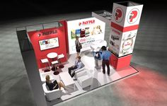 x Modular Exhibition Stand – 3 Slat Wall, Exhibition Stands, Stand Design, Arcade Games, Beams, Booth Design, Exposed Beams