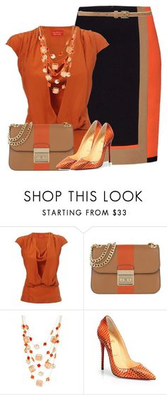 """""""Untitled #2740"""" by mrsdarlene ❤ liked on Polyvore featuring Per Se, Vivienne Westwood, MICHAEL Michael Kors, Haskell, Christian Louboutin and Linea Weekend"""