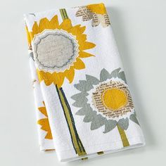 SONOMA Life + Style Sunflower Newsprint Kitchen Towel