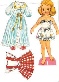 Miss Missy Paper Dolls: Dolls with Lace on Clothes set 2