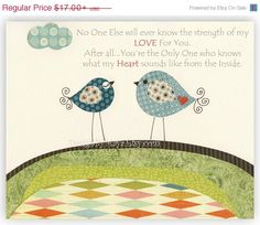 No One Else Will Ever Know The Strength of My LOVE For You Nursery Art, Baby Room Decor, Birds on Etsy, $15.38 AUD