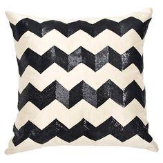 Ankasa Art Deco Pillow I in Ivory & Black