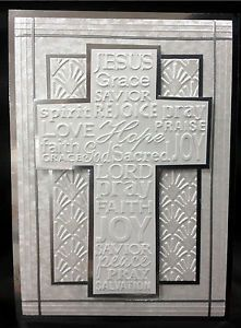 Christian Cross Embossing Folder Only Darice Use with Your Rubber Stamps | eBay