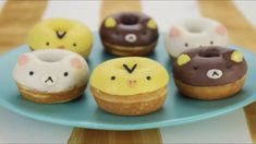 Hey everyone! These Rilakkuma donuts are so kawaii, and would be the perfect treat for any San-x lover! :-) I'll be featuring more fan photos in an upcoming . Mini Donuts, Cute Donuts, Cute Desserts, Cookie Desserts, Donut Recipes, Sweets Recipes, Cute Food, Yummy Food, Kawaii Cooking