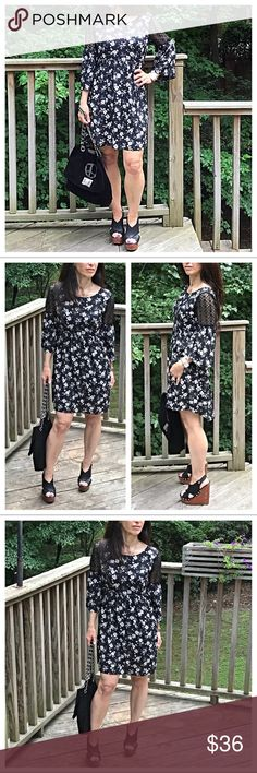 🆕 pretty floral dress Pretty floral dress with lace trim detail on shoulder this a zip back style  PLEASE Use the Poshmark new option you can purchase and it will give you the option to pick the size you want ( all sizes are available) BUNDLE and save 10% ( no trades price is firm unless bundled) Dresses