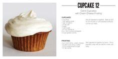 Cupcake 12: carrot cupcakes with cream cheese frosting (Ming Makes Cupcakes: http://mingmakescupcakes.yolasite.com/)