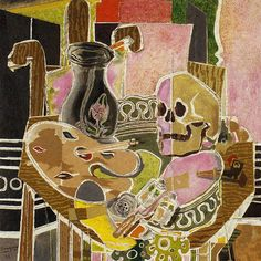 GEORGES BRAQUE Studio with Skull (1938)