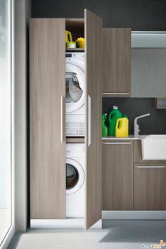 Mobile a colonna per lavatrice e asciugatrice.