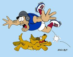 Rugbyman and dog by Antonio Cartoons, via Flickr