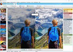 Zudem mag der Benutzer auch seine Fotos zuschneiden, verkleinern aber eventuell auch vergrößern oder Rote Augen entfernen.
