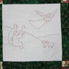 An east to make Christmas Wallhanging. Make Your Own, Make It Yourself, How To Make, Christmas Wall Hangings, Patchwork Patterns, Projects, Quilting Patterns, Blue Prints, Diy Crafts