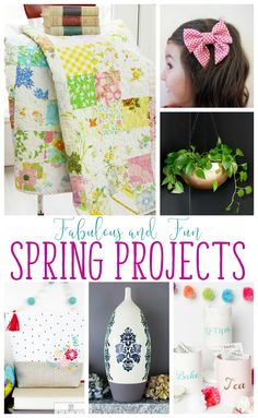Bring on the Fun and Fabulous Spring Projects, DIYs and Crafts!! Its time to add some color and fun to your home!