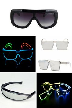 Fast Deliver Fashion Women And Men Flashing Glasses El Wire Led Glasses Halloween Party Eyewear Glow Sunglasses Uv400 Drop Shipping F3 Latest Technology Women's Sunglasses