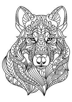 Lion Adult Coloring Page. Zentangle Doodle by ColoringPageExpress ...