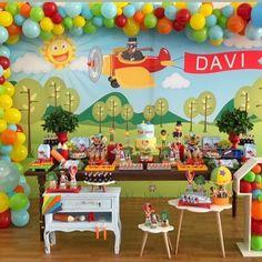 Airplane Party, Lucca, Cake, Birthday, 1 Year, Fiestas, Birthdays, Kuchen, Torte