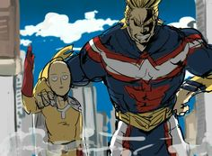One Punch Man x Boku no Hero Academia || Saitama And All Might / #anime