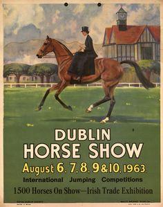 1963 Dublin Horse Show poster