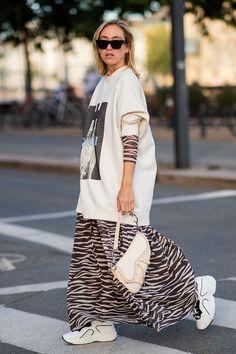 8338df83 Copenhagen fashion week street style: Sonia Lyson wears zebra print dress  with Fendi bag Sequin