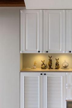 優雅細膩質感 鋪陳美式鄉村風 - 信義居家 Living Room Remodel, Kitchen Remodel, My Room, Kitchen Cabinets, House Design, Furniture, Home Decor, Decoration Home, Room Decor