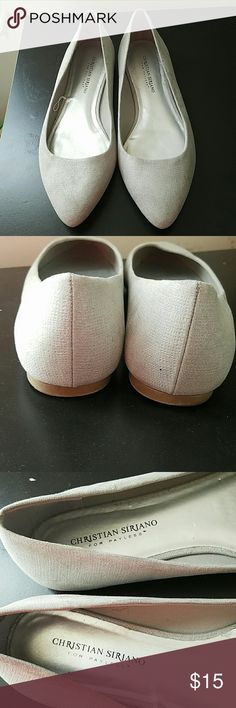 Silver flats **smoke free & pet free household**  Size 10 flats Good condition Has been worn once Shoes Flats & Loafers