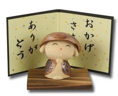 Thank You - Japanese Jizo ceramic Bodhisattva Statue - Gifts Of The Orient