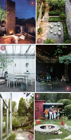 I'm dying over these outdoor spaces