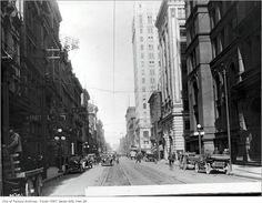 Yonge Street predates confederation by of a century. Here are some great Vintage Yonge Street pics from that show the changes. Toronto Ontario Canada, Toronto City, Hidden Art, Yonge Street, Historical Architecture, Old Pictures, City Photo, Past, Street View
