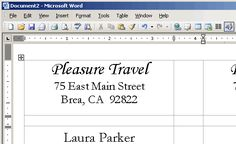 How to Create a Microsoft Word Label Template | Pinterest | Label ...