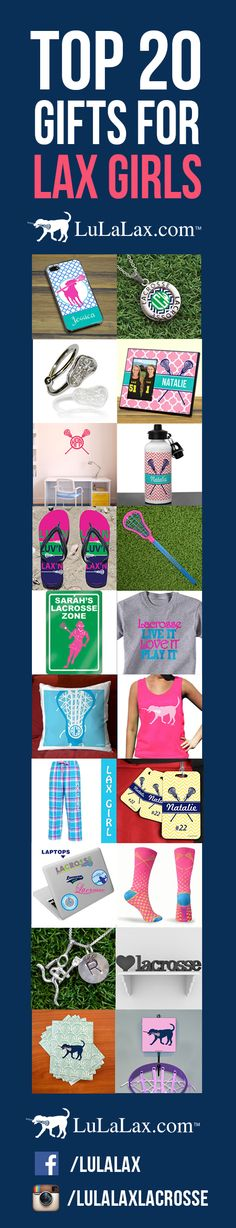 LuLaLax's Top 20 List of Gifts for Lax Girls! From pinnies to room decor, we have everything a lax girl could want! #lacrosse #laxgirl #lulalax