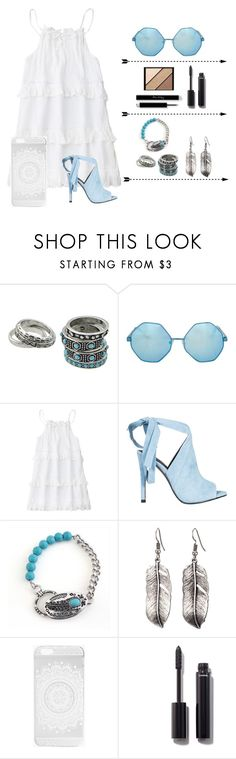 """Turquoise brunch"" by nxtsxbasic ❤ liked on Polyvore featuring Topshop, Kendall + Kylie, Boohoo, Chanel and Elizabeth Arden"