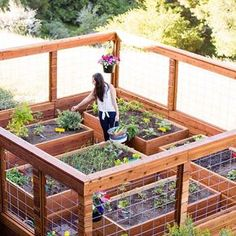 Brit from @britandco here! Creating an edible garden in my backyard has always been a dream of mine. I recently teamed up with @loweshomeimprovement to make it happen. Here's the finished garden—I stained the structure to match the color of my home and then planted fruits + veggies! #britstagram #gardening #diy