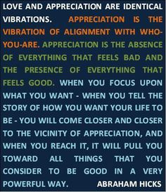 Abraham-Hicks ...  I love their writings and books.  This is their philosophy.. love.