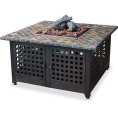 Natural-Gas-Fire-Pit-Table-Propane-Kit-Square-Mantel-Outdoor-For-Patio-Sets-SALE