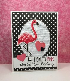 Color Layering Flamingo: Hero arts, sentiment: MFT (Tickled Pink), critter sketch, by beesmom at splitcoast Bee Cards, Tropical, Custom Cards, Scrapbook Cards, Scrapbooking, Hero Arts, Card Sketches, Stampin Up Cards, Making Ideas