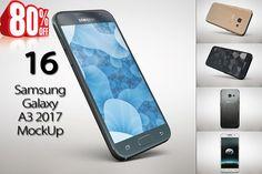 Bundle Samsung Galaxy A3 2017 MockUp by mockupstore on @creativemarket